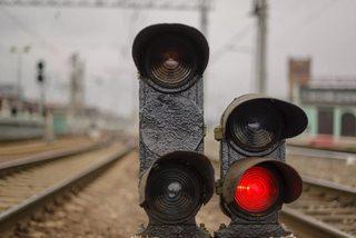 В Георгиевске локомотив столкнулся с «КамАЗом»