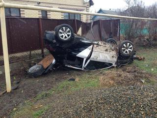 В Михайловске иномарка сбила насмерть пешехода и перевернулась