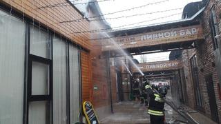 На Верхнем рынке Пятигорска произошел пожар