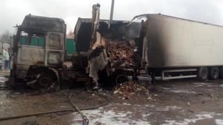 На Ставрополье из-за проводки чуть не сгорела фура с водкой