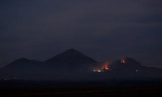 На склоне горы Бештау под Пятигорском произошел крупный пожар