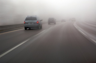 ГИБДД предупреждает ставропольских водителей о сильном тумане