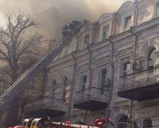 В Кисловодске в здании с библиотекой произошел пожар