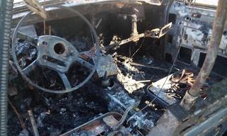 Угнанный в Железноводске автомобиль найден сгоревшим у хутора Тамбукан
