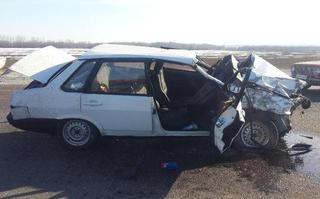 На Ставрополье пожилой водитель погиб в лобовом ДТП