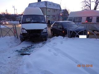 В Ставрополе в результате ДТП пострадала пассажирка маршрутки