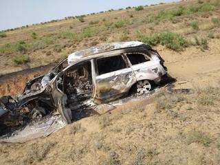 Две машины сгорели в результате ДТП на Ставрополье