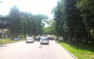 В Пятигорске из-за неисправного радиатора произошло тройное ДТП